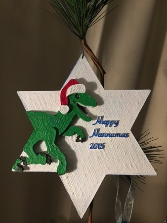 raptor holiday ornament
