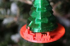 Christmas Tree With Train Ornament 1