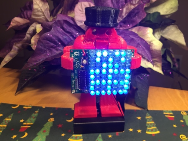 Makey Nutcracker Ornament with LED Sign