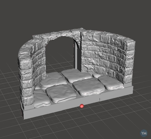 Openforge Curved Walls with Door