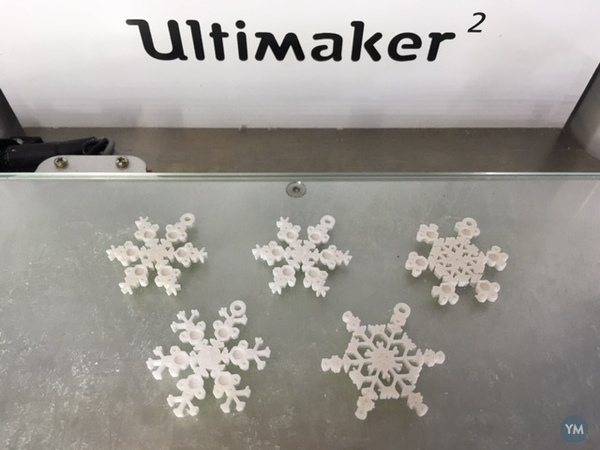 Tiny Snowflake Ornaments - from the Snowflake Machine