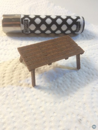 wood Picnic Table - scale model