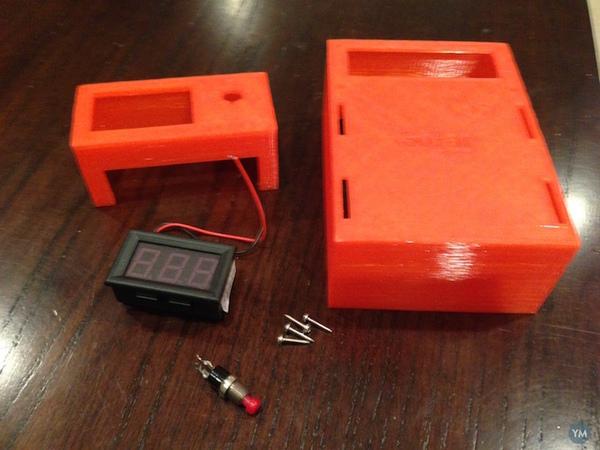 Charge controller holder + LED volt meter (solar)