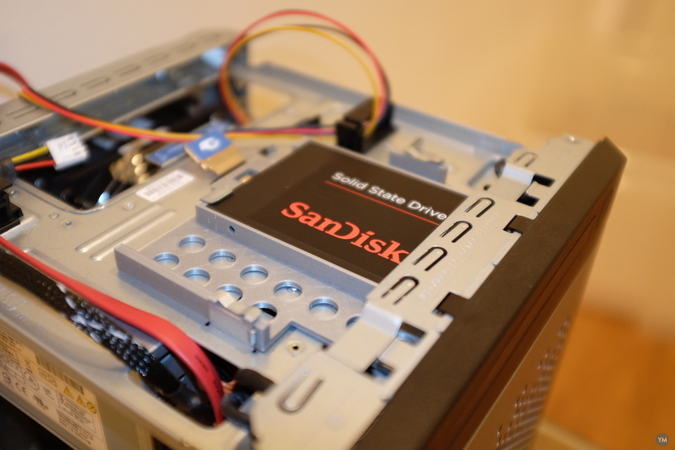 SSD caddy for ODD bay