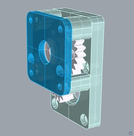 Geared Addon (inspired on Meduzas 'bolt-on' geared feeder.