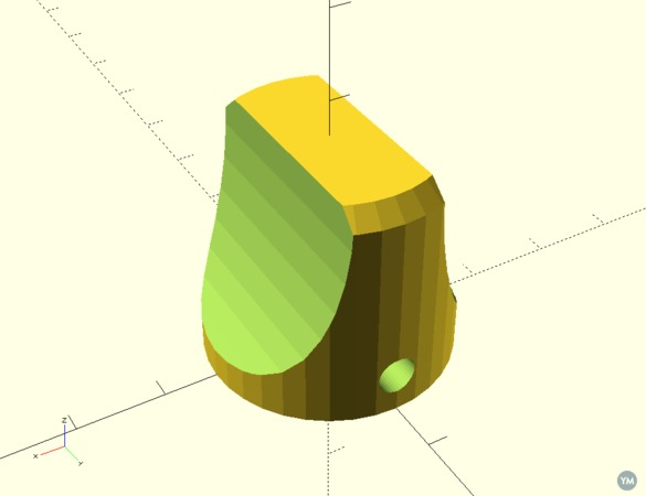 Instrument Knob, high torque, parametric