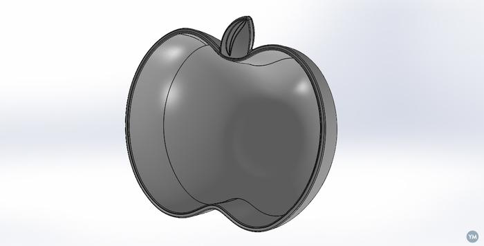 Elma şekli verilmiş plastik kap-kase