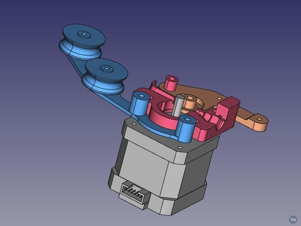 Ultimaker ² FreeCAD and Open source Extruder