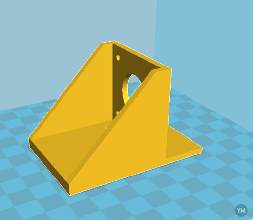 Simple Front Mount Adapter for Plastic Extruder