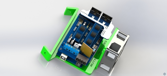 arduino ramps 1.4 with 60mm fan mount, 60 degree NEW  v mount