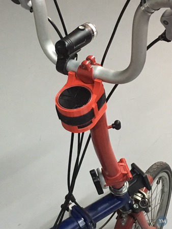 Ryght Y Storm speaker adapter for Brompton bike