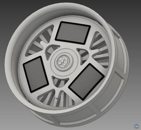 "26"" Spinning TV rim"