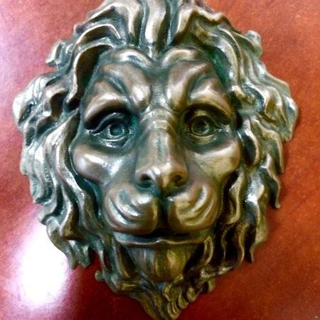 """Decorative element """"Lions Head"""""""