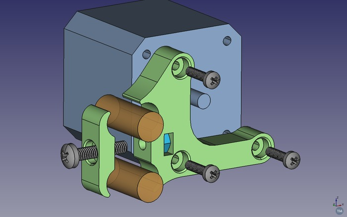 Prusa i3 Y motor mount bracket