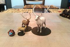 Deer  Elk  And Giant Elk