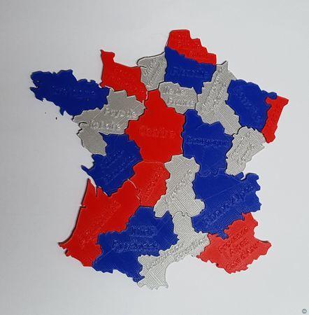 Puzzle france région
