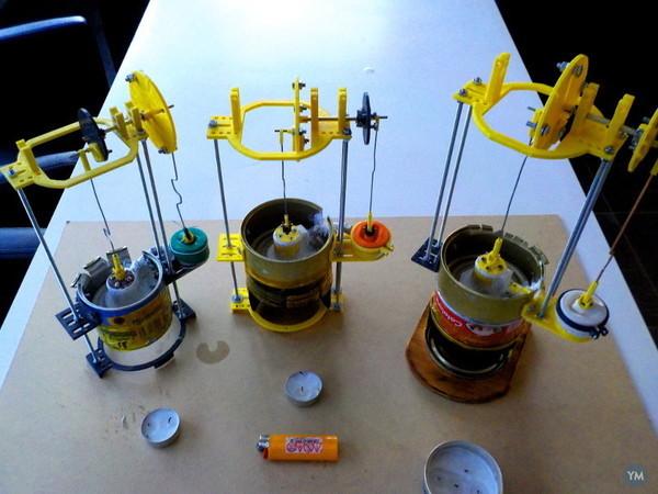 Moteur Stirling gamma en kit - KIT 1-  Stirling engine