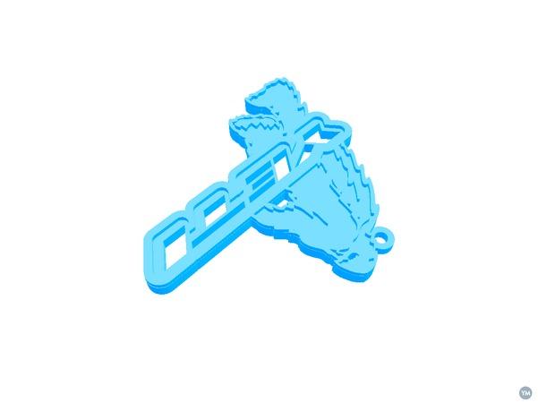Bike KeyChain Yeti Monster Logo