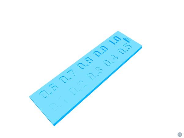 Engraved Lettering Test Plate