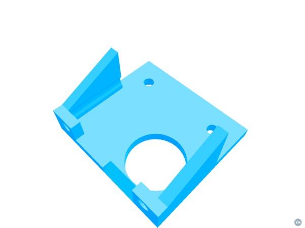 Kossel Clear Extruder bracket for Shanes Extruder R3
