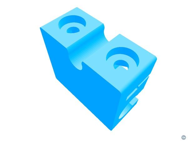 Ultimaker 2 XY bushing slider block