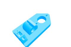 Reprap Mendel3 X-axis motor part 949 adapted for linear bearing