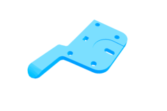 Rendering of Injection Molded Sideplate 1