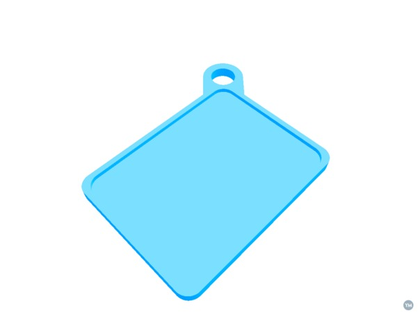 Keychain for contactless payment sticker