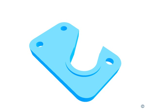 Printrbot Simple Metal E3D-V6 adapter plate