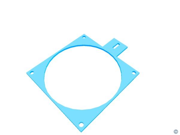 Makibox bracket for extruding motor cooling fan