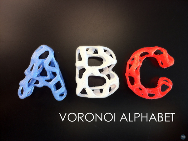 Voronoi Alphabet (A to Z!!)