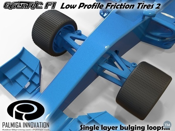Low Profile Friction Tires 2 for OpenR/C F1 car