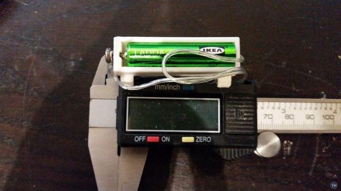 Caliper AAA battery adapter