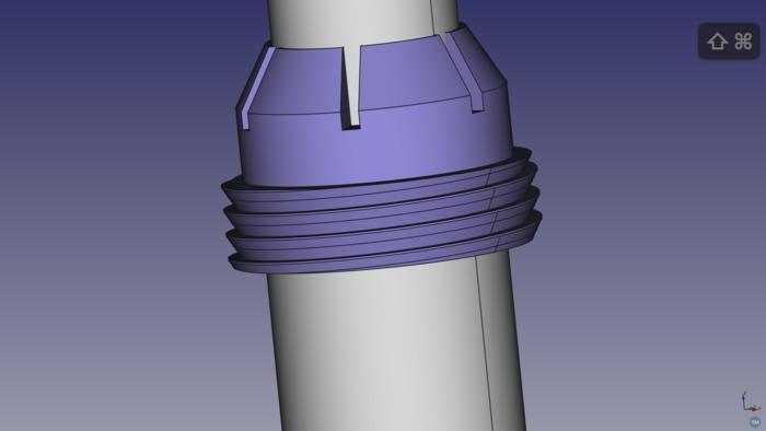3D-printable Glidecam collet