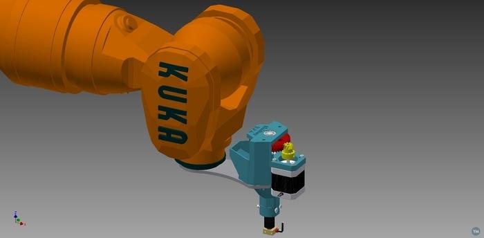 Holder of RichRap U.P.E. for KUKA KR16-2