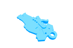 Elephant in suit pendant (AutoCAD)