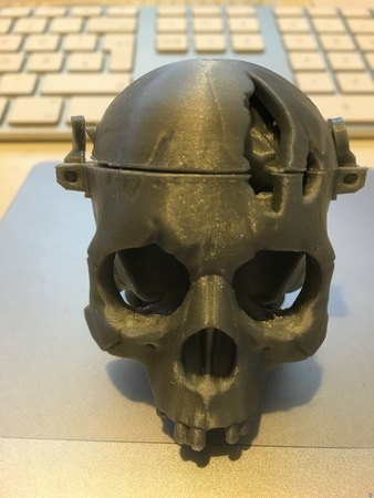 Skull Box w/ Brain by 3DKitbash