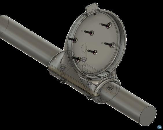 Velocitek Speedpuck GPS mount for catamarans v2