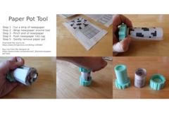 Paper Pot Tool   Instructions