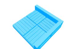 Rendering of Tt Dungeon Corner Tile 2x2 Wood Clean