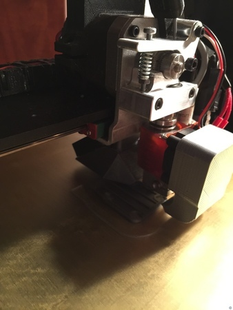 Printrbot Metal Plus 40mm + 30mm Fan Duct for E3D V6 Lite + Alu Extruder v2 Adapter