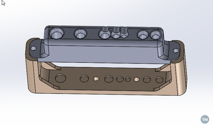 Simple, easy to print tool rack for Sherline lathe