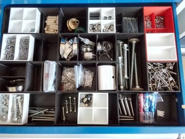 workbench drawer sorting system