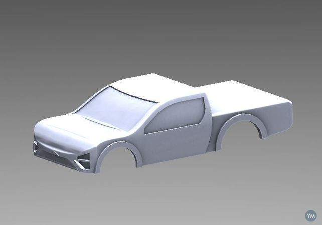 HO Scale Toyota Tacoma Body
