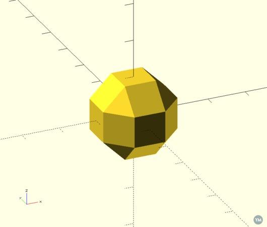 OpenSCAD Rhombicuboctahedron
