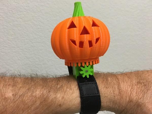 Motorized Halloween Pumpkin Bracelet