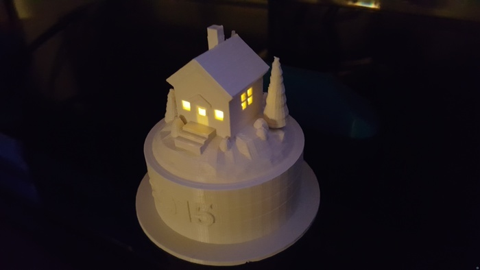 Tea Light Scene - House