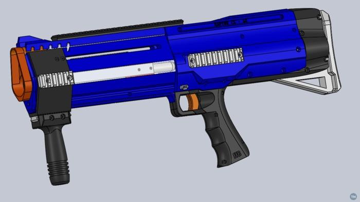 3D Printed Homemade Raptor CS - 12 Nerf Blaster