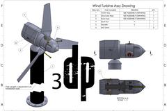 Wind Turbine Assy Drawing