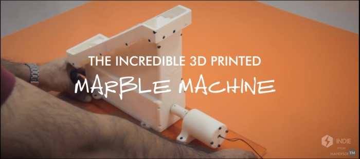 THE 3D PRINTED MARBLE MACHINE